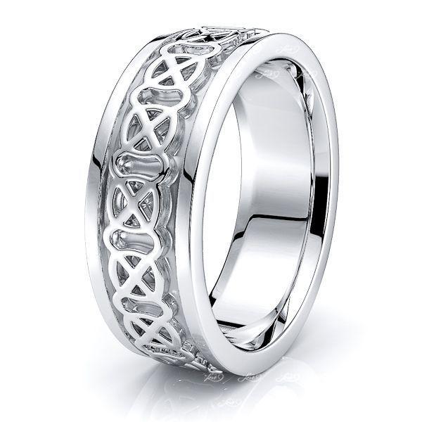 Lore Celtic Knot Mens Wedding Ring
