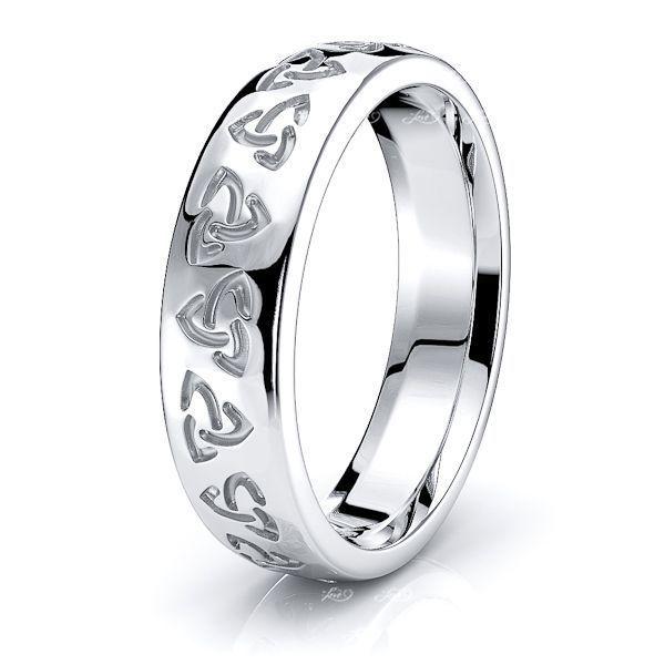 Aithne Trinity Knot Mens Celtic Wedding Ring