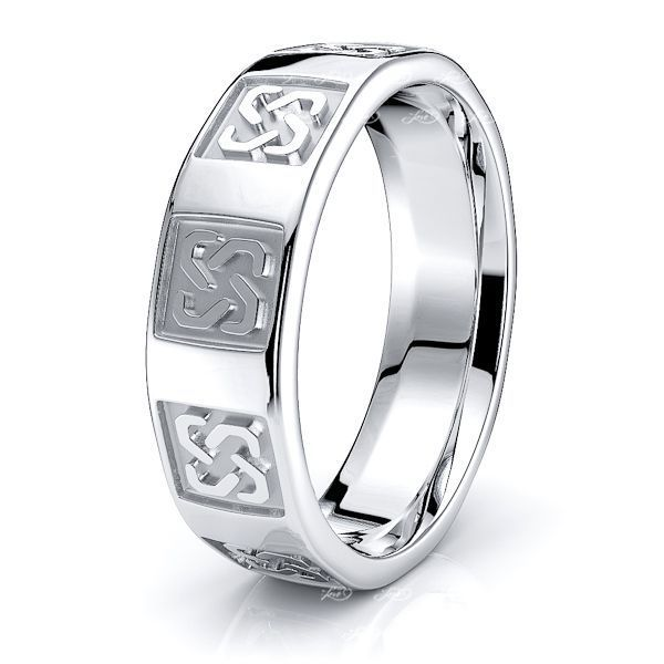 Connor Celtic Love Knot Mens Wedding Ring