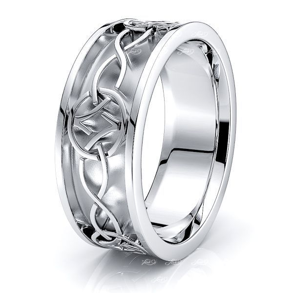 Oliver Infinity Mens Celtic Wedding Ring
