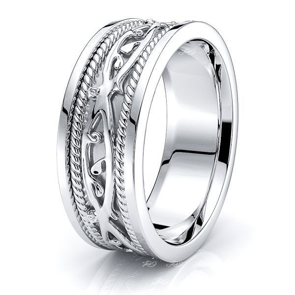 Keith Celtic Knot Mens Wedding Band
