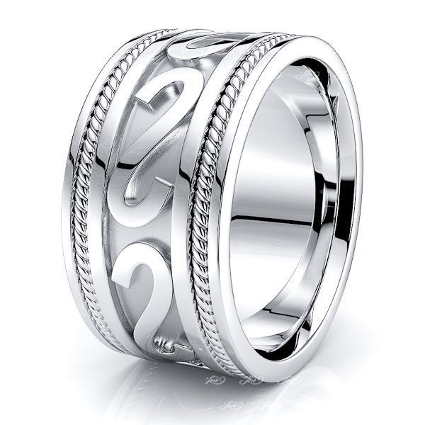Ailsa Celtic Knot Mens Wedding Ring