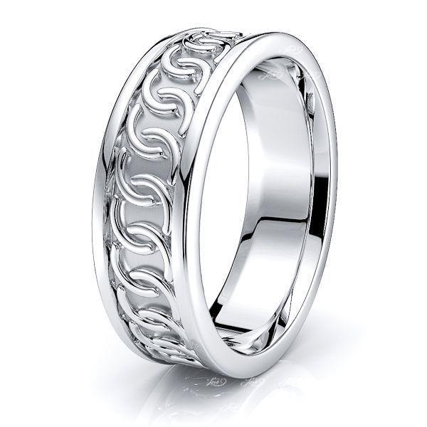 Riona Celtic Knot Mens Wedding Ring