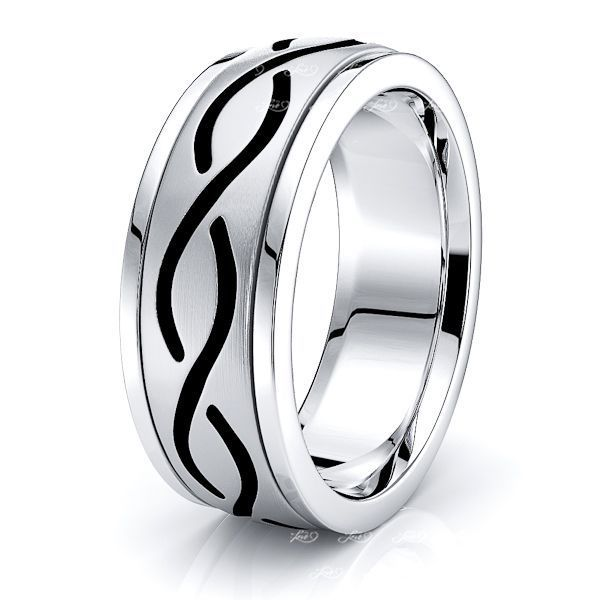 Aine Celtic Knot Mens Wedding Band