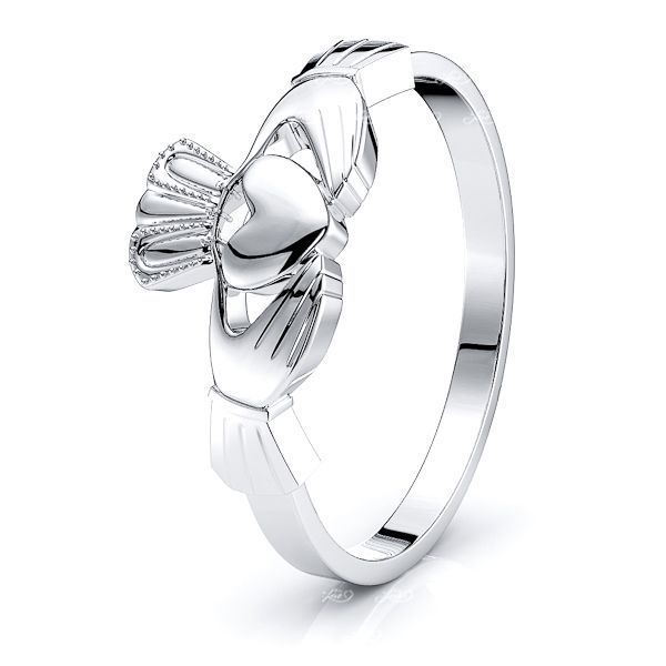 Ailill Claddagh Mens Wedding Ring