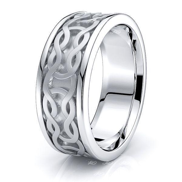Rohanna Celtic Knot Mens Wedding Band