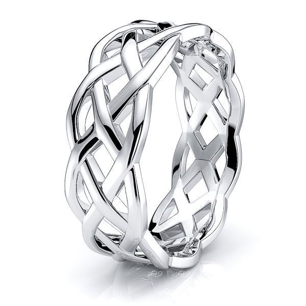 Cymbaline Celtic Knot Mens Wedding Ring