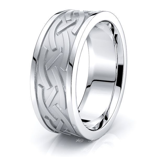 Sunny Celtic Knot Mens Wedding Band