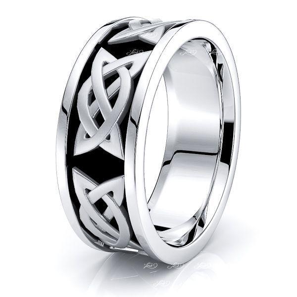Aerona Celtic Knot Mens Wedding Band