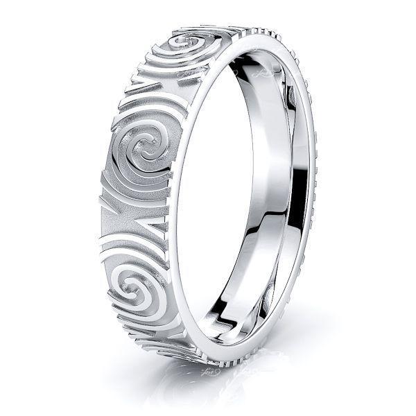 Morrigan Celtic Spiral Mens Wedding Ring