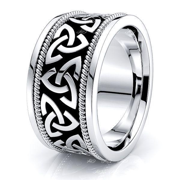Herman Trinity Knot Mens Celtic Wedding Band