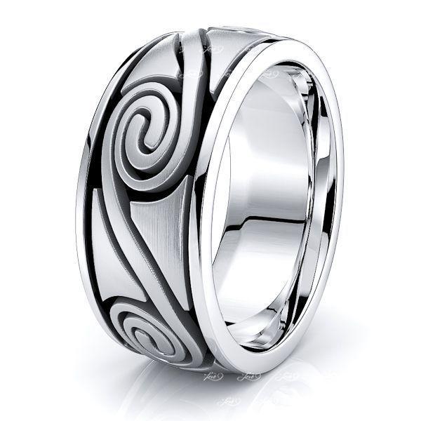 Cormac Celtic Spiral Mens Wedding Band