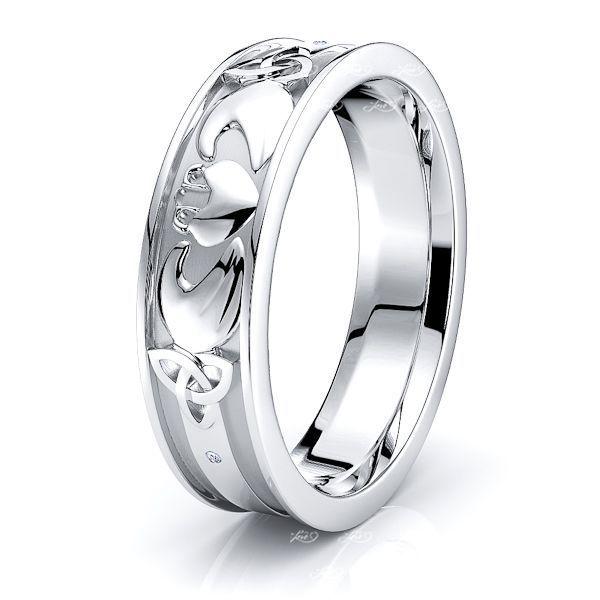 Glendon Claddagh & Trinity Mens Wedding Ring