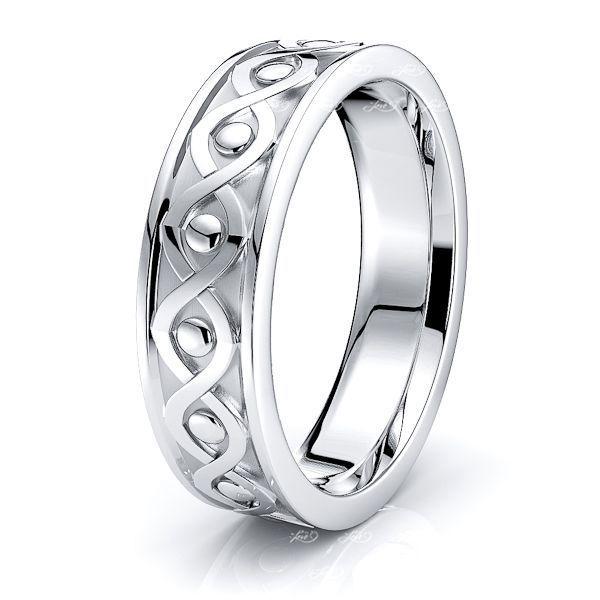 Emer Celtic Knot Mens Wedding Ring