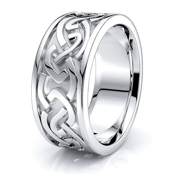 Donald Celtic Knot Mens Wedding Ring