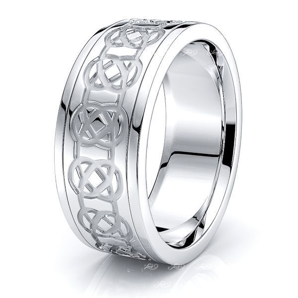 Campbell Mens Celtic Wedding Band