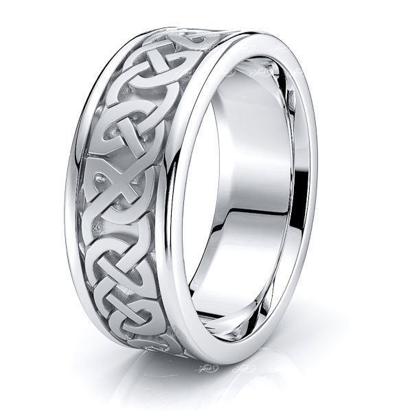 Meadow Celtic Knot Mens Wedding Band