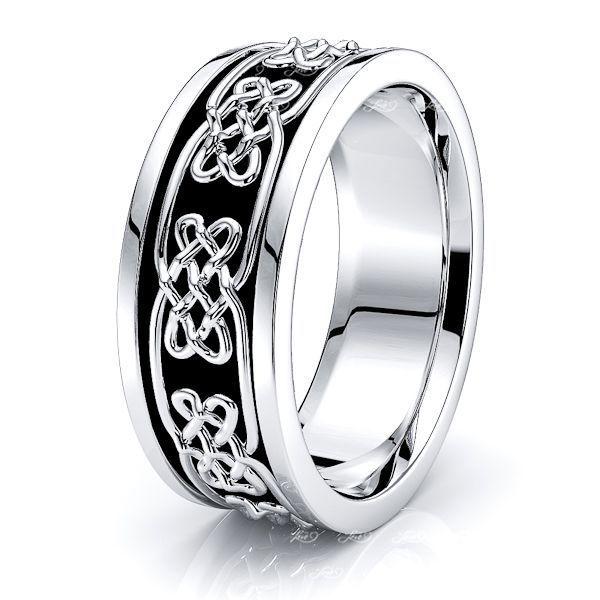 Daireann Celtic Knot Mens Wedding Band