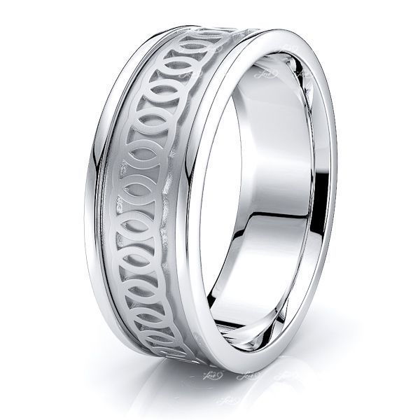 Brodie Celtic Knot Mens Wedding Ring