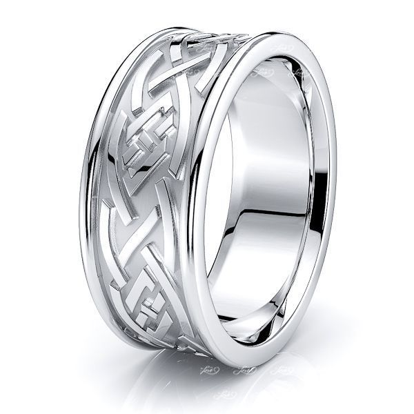 Shannon Celtic Knot Mens Wedding Band