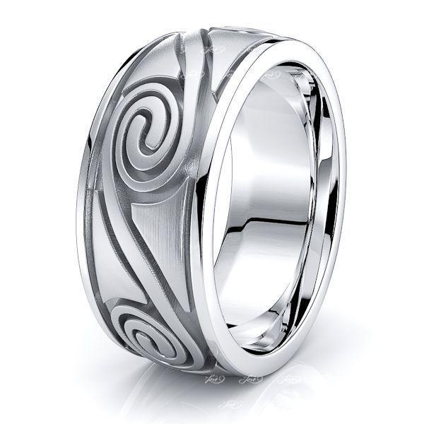 Carrick Celtic Spiral Mens Wedding Band