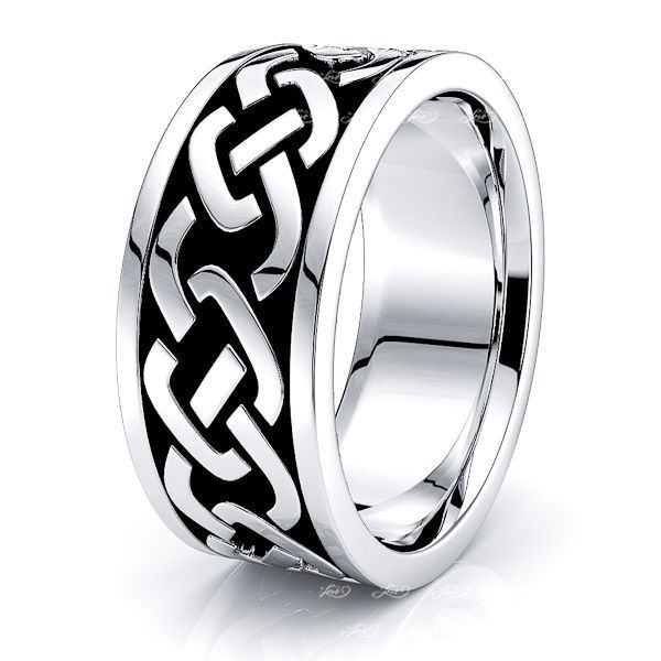 Pixie Celtic Knot Mens Wedding Ring