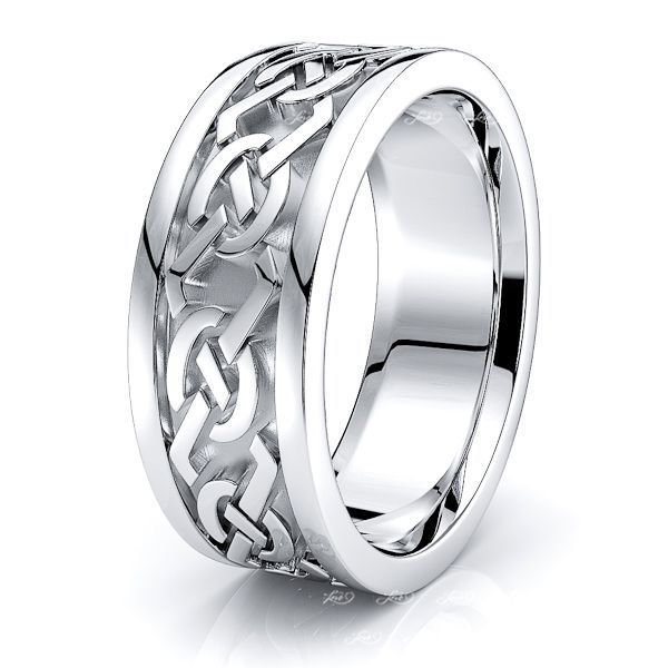 Kenneth Celtic Knot Mens Wedding Ring