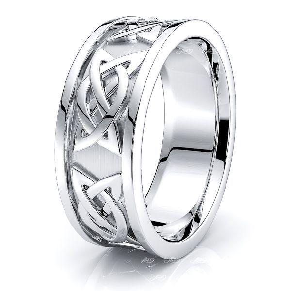 Calder Celtic Knot Mens Wedding Band