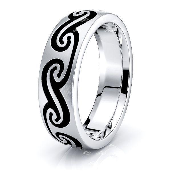 Owen Celtic Knot Mens Wedding Band
