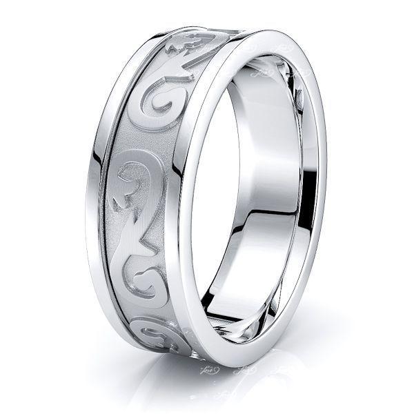 Ewan Celtic Knot Mens Wedding Ring
