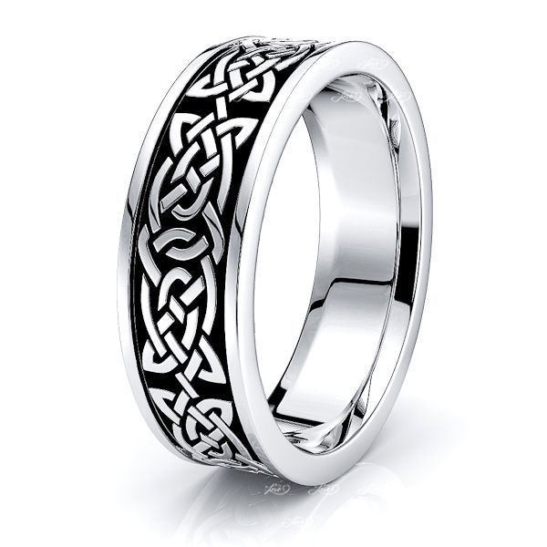 Alana Celtic Knot Mens Wedding Band