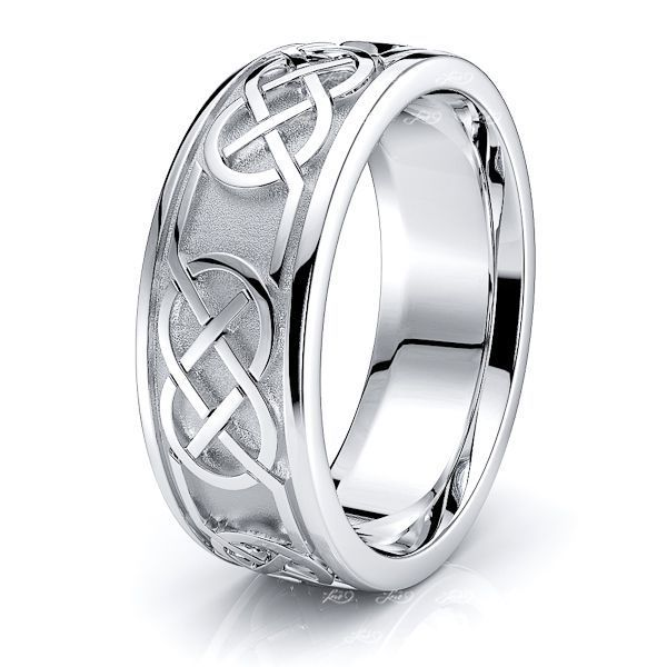 Teagan Celtic Knot Mens Wedding Ring