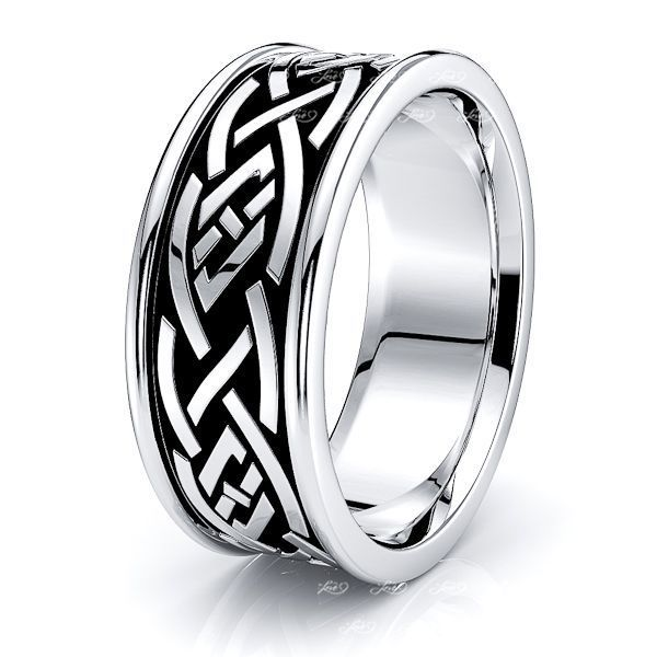 Arthur Celtic Knot Mens Wedding Band