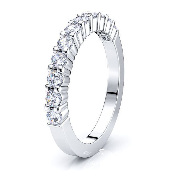 Adelphe Prong Set Women Anniversary Wedding Band