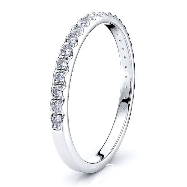 Paola Pave Set Women Anniversary Wedding Band