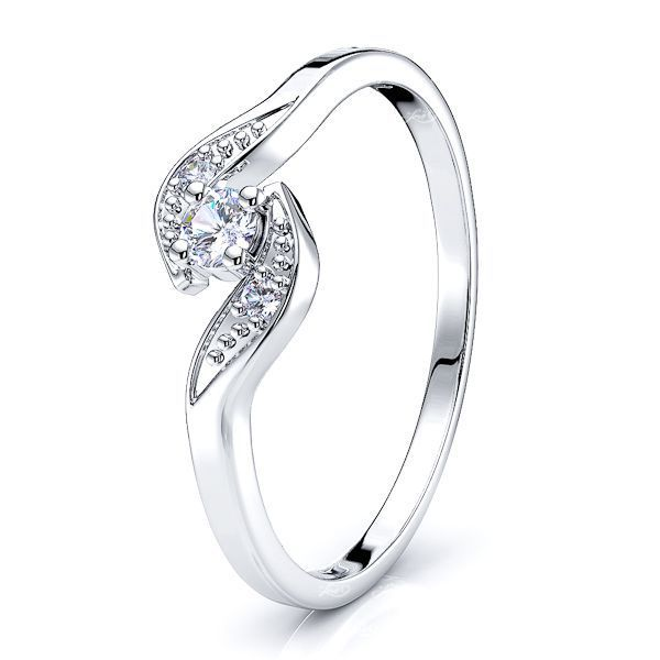 Agnes Pave Set Women Anniversary Wedding Ring