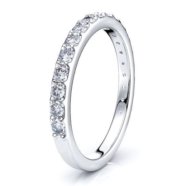 Agate Prong Set Women Anniversary Wedding Band