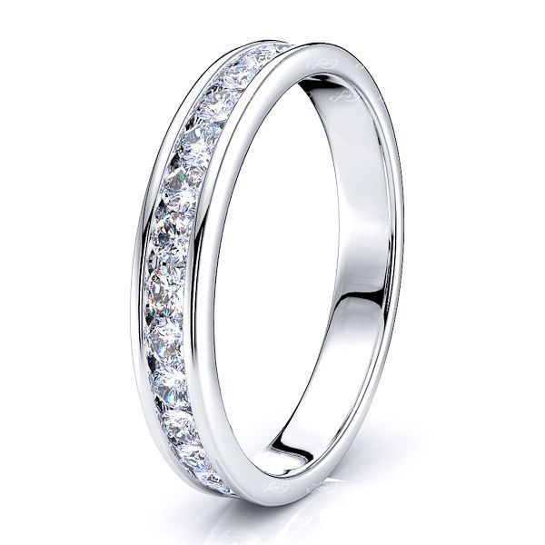 Ines Diamond Women Anniversary Wedding Band
