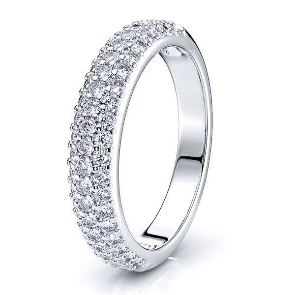 Nina Diamond Women Anniversary Wedding Ring