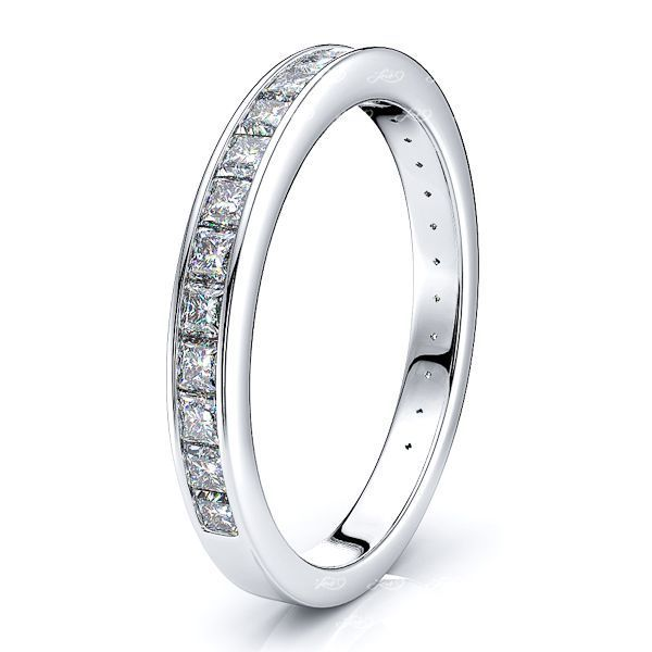 Santuzza Channel Set Women Anniversary Wedding Band