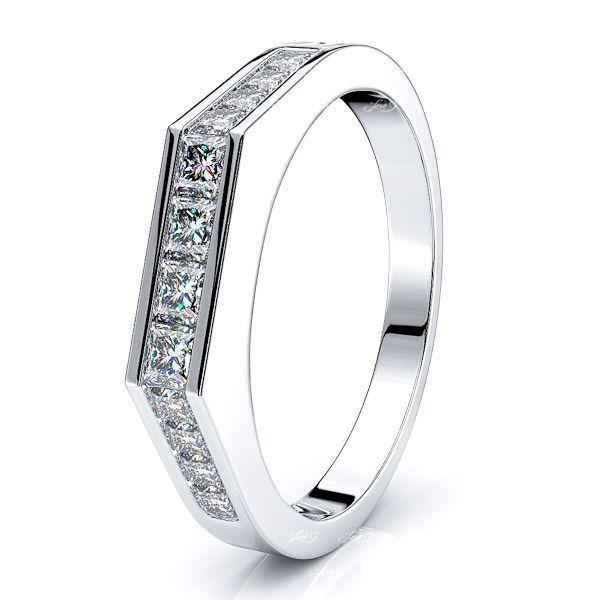 Jacquette Princess Cut Women Anniversary Wedding Ring
