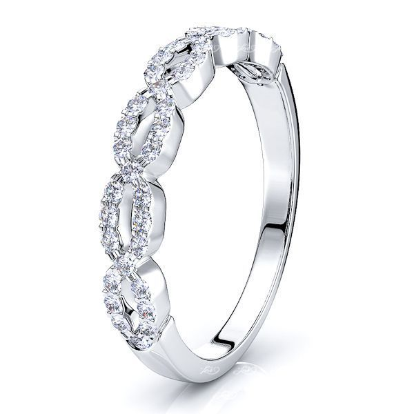 Oriane Pave Women Anniversary Wedding Band