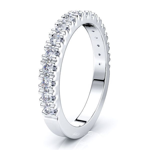 Caprice Pave Set Women Anniversary Wedding Band