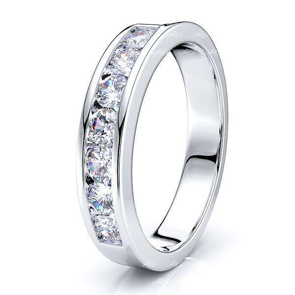 Adalina 7 Stone Channel Set  Women Anniversary Wedding Ring