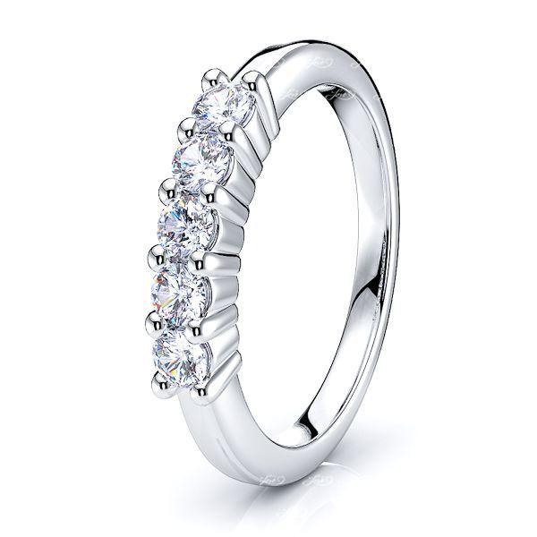 Nuria 5 Stone Prong Set Women Anniversary Wedding Ring