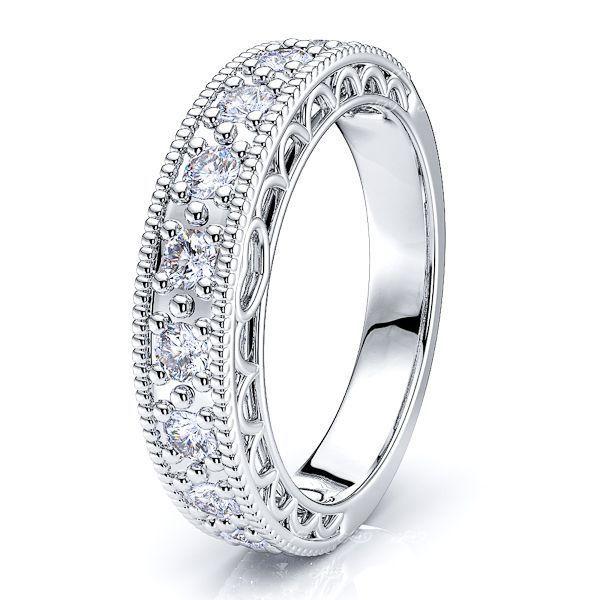 Athenais Round Cut Women Anniversary Wedding Ring