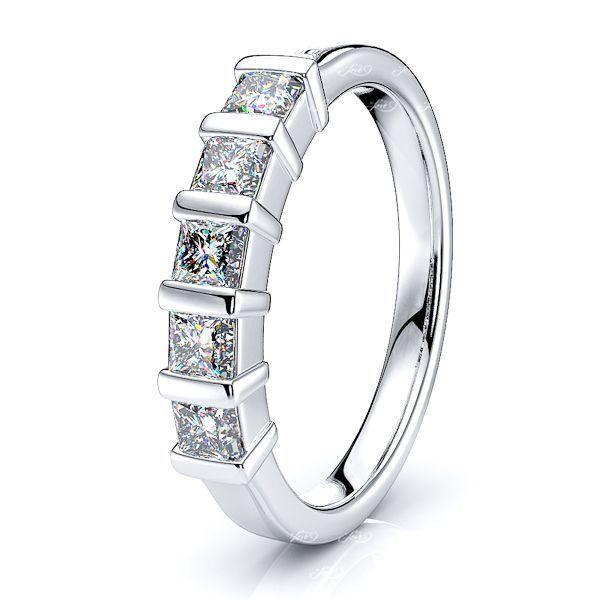 Maddie 5 Stone Bar Set Women Anniversary Wedding Ring