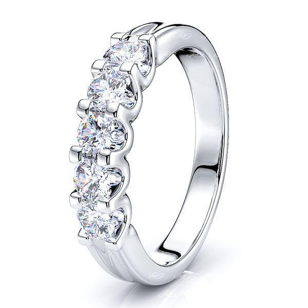Lea 5 Stone Women Anniversary Wedding Ring