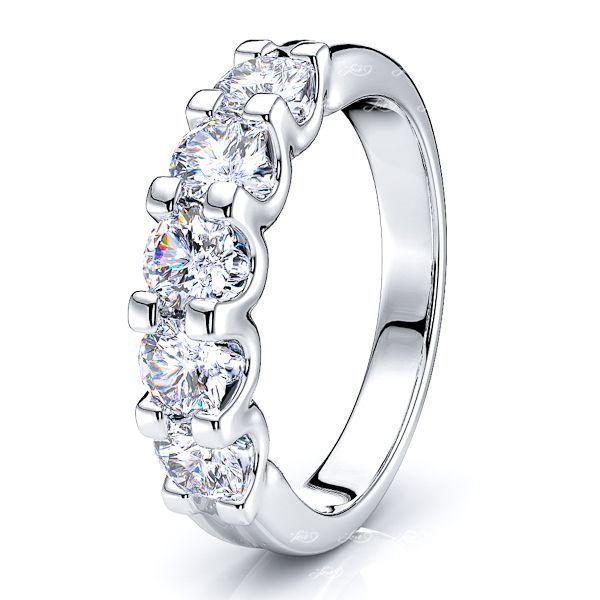 Diamante Women Anniversary Wedding Ring