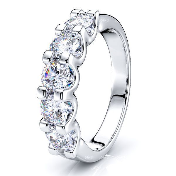Gigi 5 Stone Women Anniversary Wedding Ring